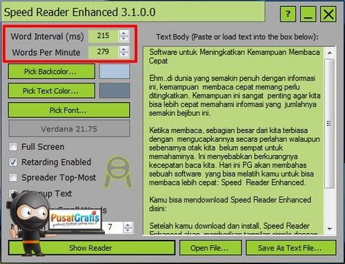 Software untuk Meningkatkan Kemampuan Membaca Cepat