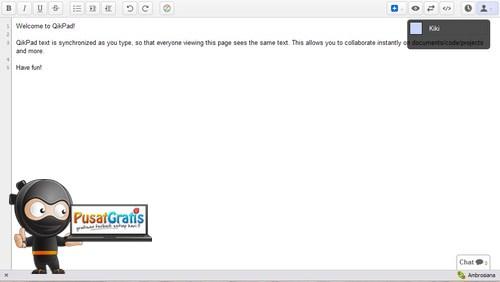 QikPad: Web Apps untuk Saling Bantu Mengerjakan Coding, Script atau Dokumen Lainnya