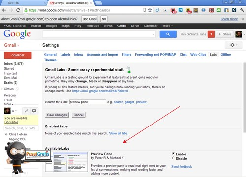 Fitur Gmail #1: Bagaimana meng-Enable Gmail Preview Pane
