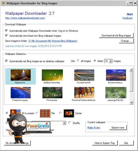 Mendownload Wallpaper dari Bing secara Otomatis dengan Wallpaper Downloader
