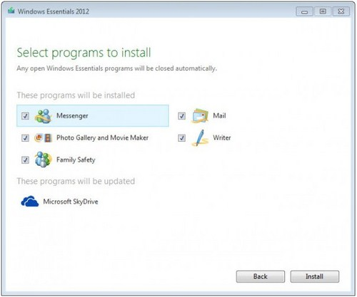 Download Windows Essential 2012 Gratis (Offline Installer)