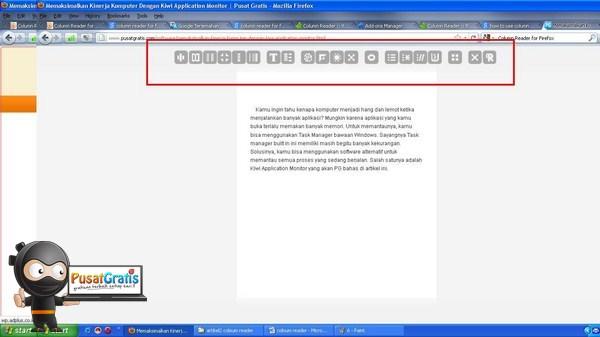 Sekarang Membaca Artikel di Web Lebih Nyaman Menggunakan Column Reader