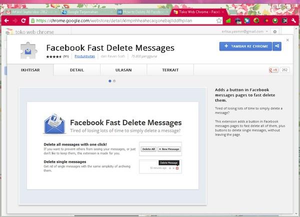 Cara Menghapus Semua Message Facebook Dengan Cepat