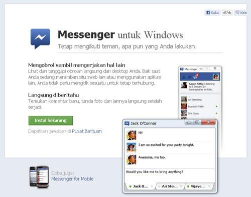 Facebookan Lebih Up To Date Menggunakan Facebook Massenger