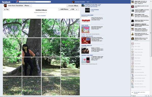 Membuat Facebook Photo Album Terlihat Seperti Puzzle