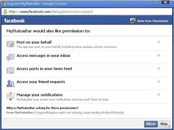 Pantau Terus Aktivitas Facebook Melalui Bar dengan MyStatusBar