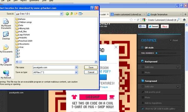 Membuat Kode QR Lebih Bewarna Dengan QRHacker