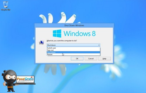 Cara Shut Down di Windows 8