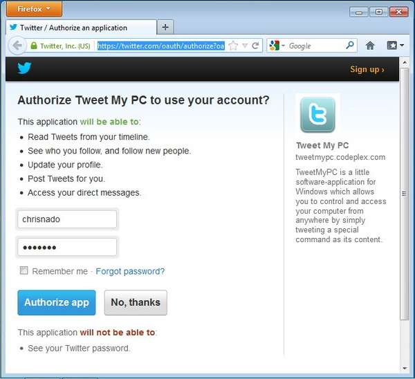 Cara Mengendalikan Komputer Melalui Twitter