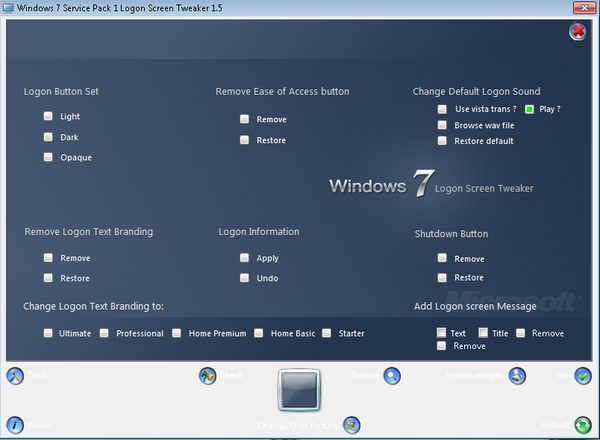 Ubah Tampilan Logon Screen Windows 7 Dengan Windows 7 Logon Screen Tweaker