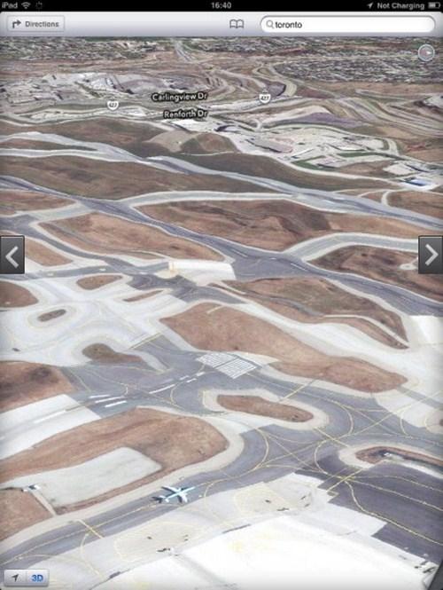 Airport Toronto terlihat bergelombang, bagaimana pesawatnya bisa mendarat?