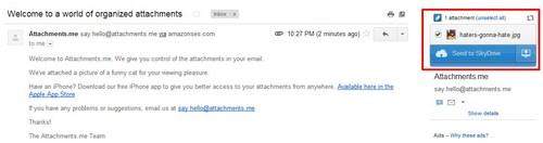 Microsoft Ingin Kamu Bisa Menyimpan Attachment Gmail di SkyDrive!