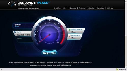 Tes Kecepatan Internet kamu dengan BandwidthPlace