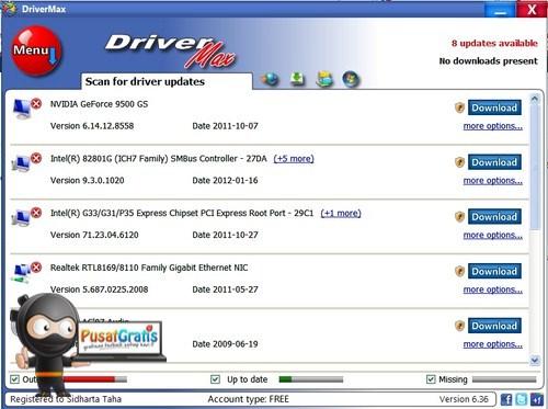 Backup dan Update Driver Komputer dengan DriverMax