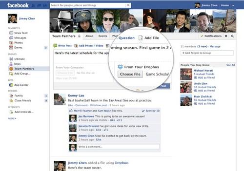 Kamu Bisa Langsung Berbagi File Dropbox di Facebook Groups