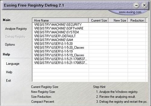 Mempercepat Komputer dengan Eusing Free Registry Defrag