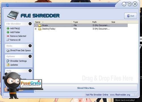 Menghapus File Selamanya dari Hard Drive dengan File Shredder