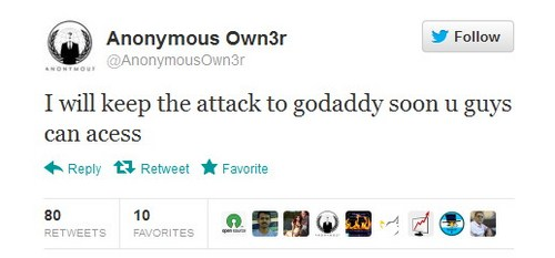 "Godaddy.com Dihack, Jutaan Situs ""Down"""