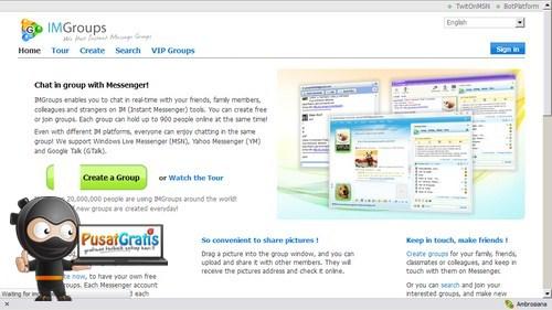IMGroup: Web Aplikasi untuk Chatting Lintas Akun