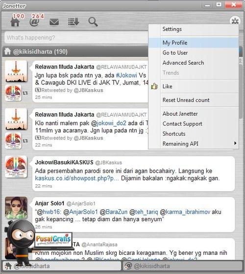 Ingin Mengatur Desktop Twitter kamu Sendiri? Coba Janetter!