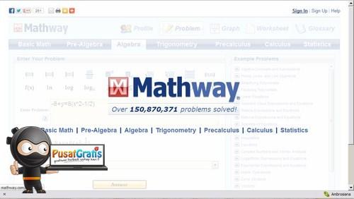 Belajar dan Memecahkan Soal matematika dengan Mathway