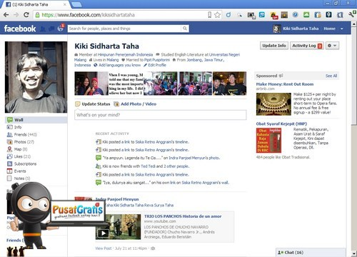 Cara Menyembunyikan Facebook Timeline