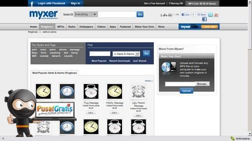 Download Berbagai Aplikasi, Ringtone dan Wallpaper Smartphone di Myxer