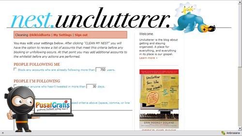 Mengatur Follower dan Following Twitter kamu dengan Nest Unclutter