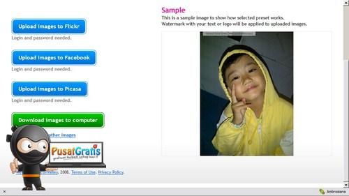 Memberi Watermark Foto dengan PicMarkr