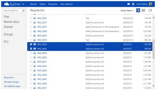 SkyDrive Sekarang Punya Recycle Bin Lho!
