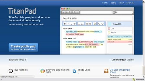 Melakukan Kolaborasi Kerja Jarak Jauh dengan TitanPad