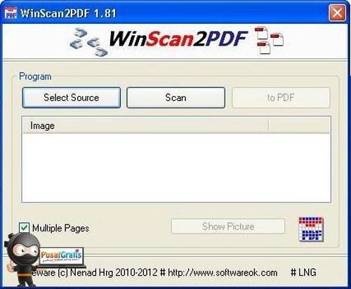 WinScan2PDF: Simpan File Hasil Scan Menjadi PDF