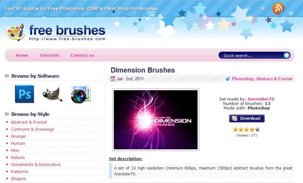 Situs Untuk Mendownload Brush Tools Photoshop Secara Gratis