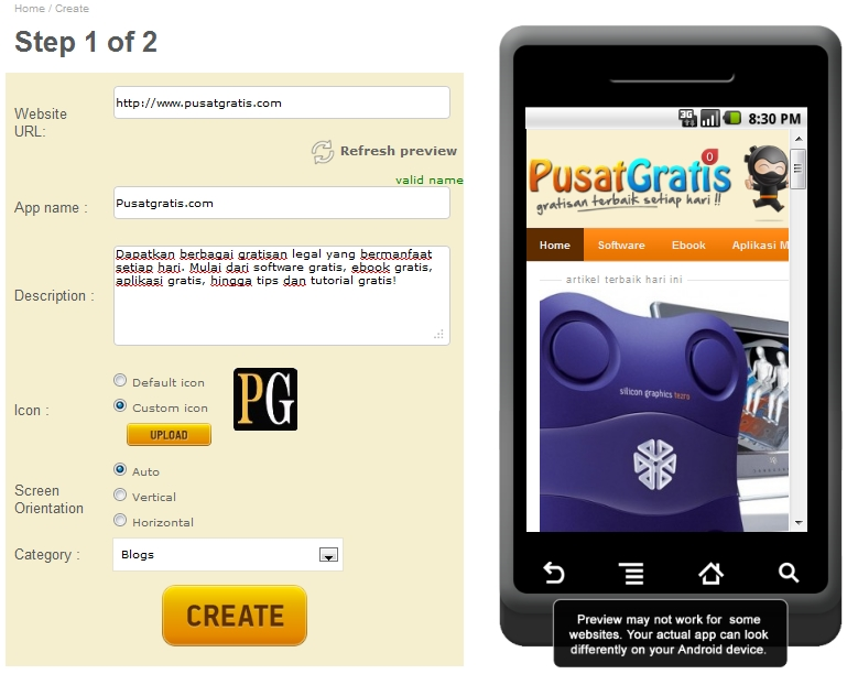 Cara Mudah Membuat Aplikasi Android di Appsgeyser