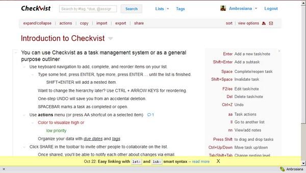 Memanajemen Berbagai Tugas Rumit dengan CheckVist