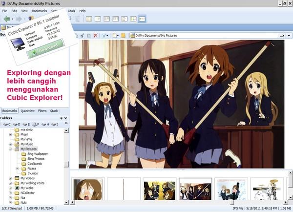 Memanajemen File dengan Cubic Explorer