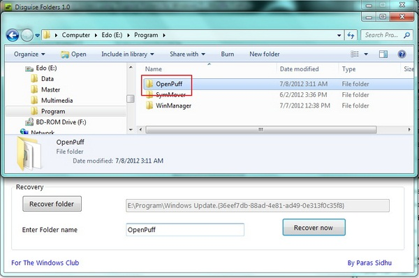 Samarkan Folder Penting Kamu di Windows 7 Dengan Disguise Folders