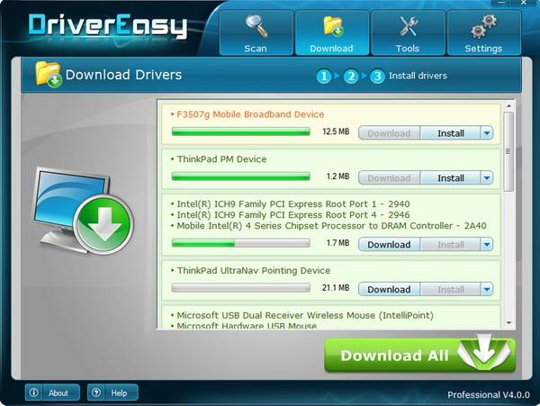 Temukan dan Download Driver yang Hilang dengan Driver Easy