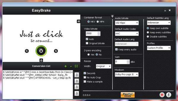Convert Video Hanya Dengan Satu Klik Menggunakan EasyBrake