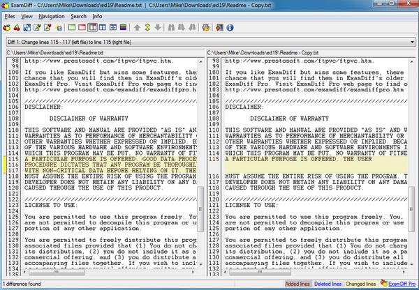 Bandingkan Dua File Teks Dengan Mudah dan Praktis Menggunakan ExamDiff