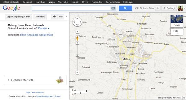 Menggunakan Google Maps untuk Mengukur Jarak