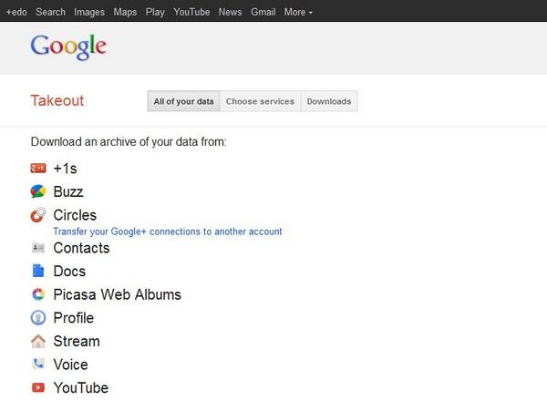 Download Semua Data Kamu di Google Dengan Google Takeout