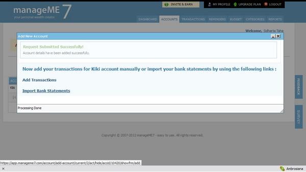 ManageME: Web Aplikasi untuk Membantu Mengelola Keuangan