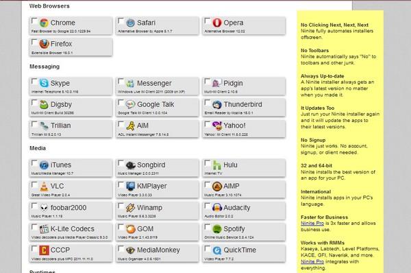 Dapatkan Installer Software dengan Mudah Menggunakan Ninite