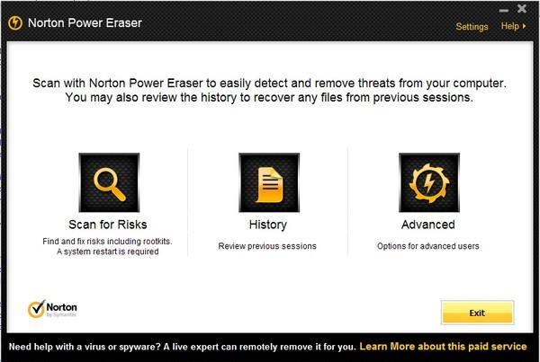 Hapus Antivirus palsu dan Scareware dari hard drive Kamu Menggunakan Norton Power Eraser