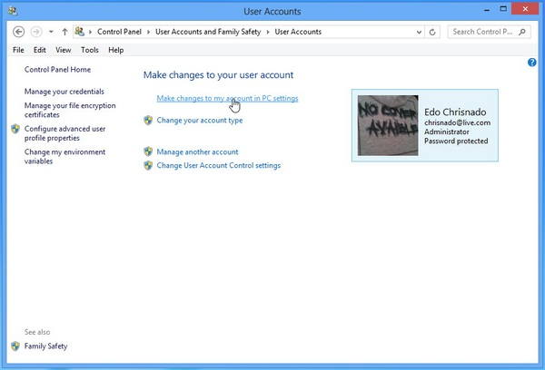 Cara Membuka PC Setting di Windows 8