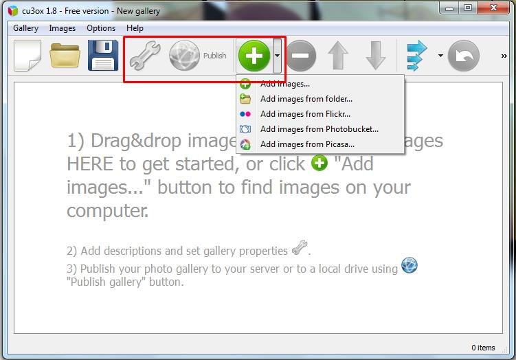 Percantik Galeri Foto Website Kamu Dengan CU3OX