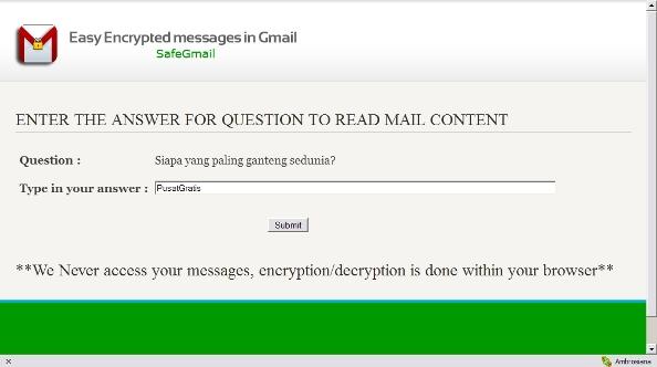 Berkirim Email dengan Keamanan Tingkat Tinggi Menggunakan SafeGmail Chrome Extension