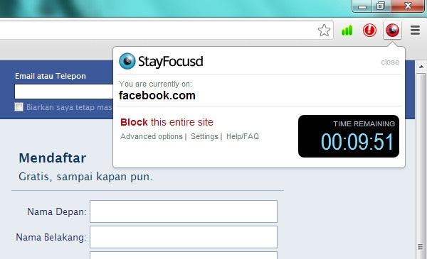 Menjaga Agar Tetap Fokus Kerja Dengan StayFocusd