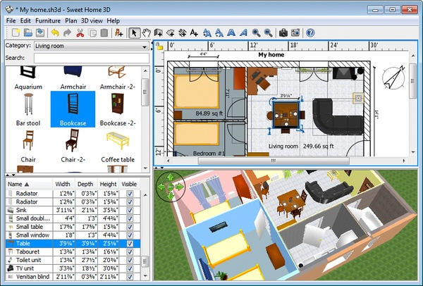 Sweet Home 3D: Download Software Gratis Desain Rumah 3D